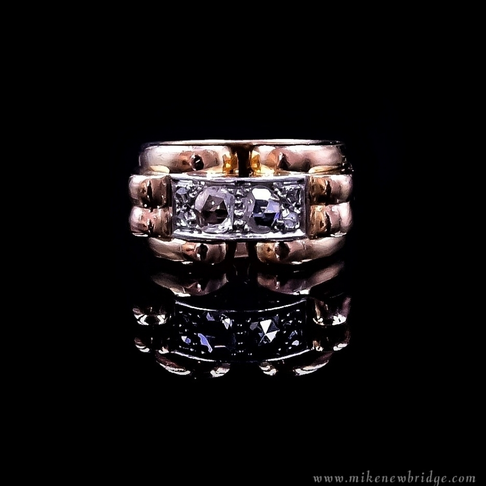 Rose gd. ring met diamant 1940