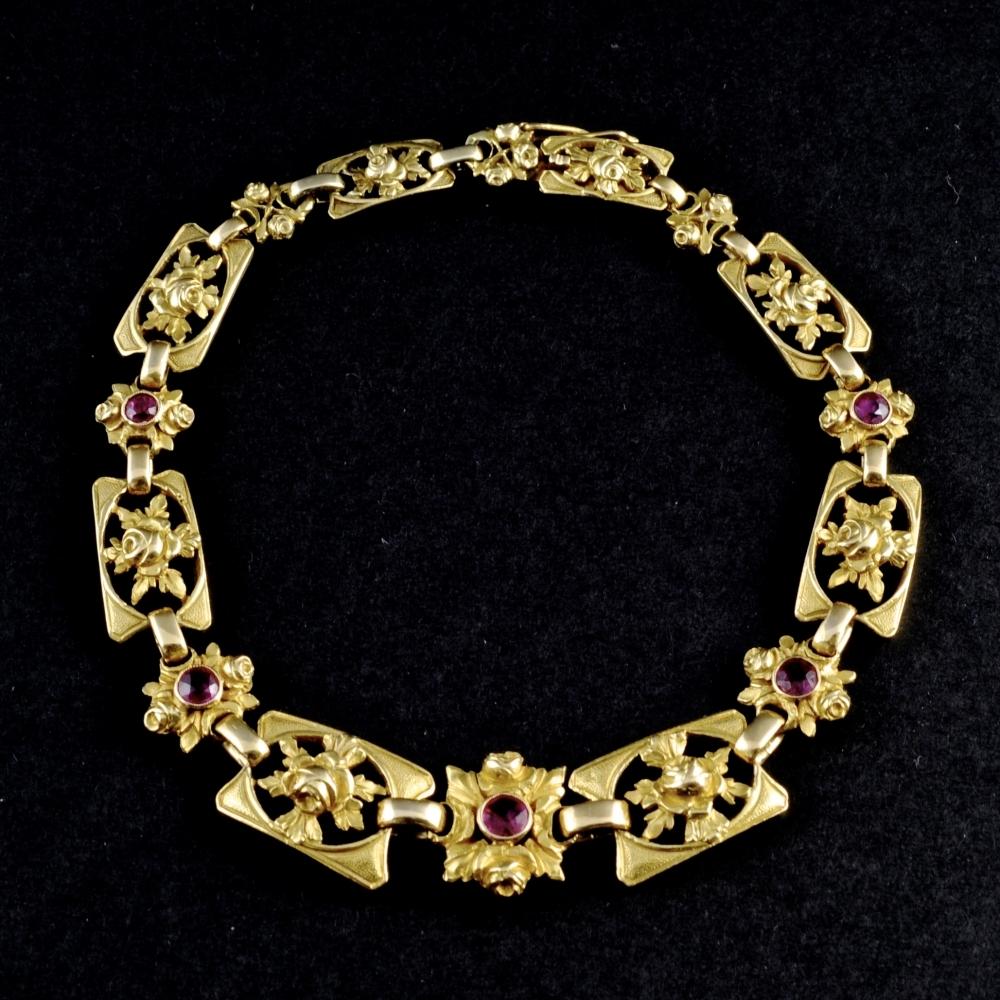 Collier/armband met robijn