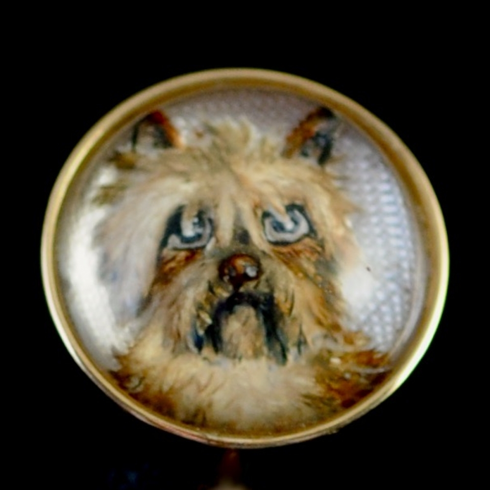 Hanger van bergkristal met terrier (Essex crystal)