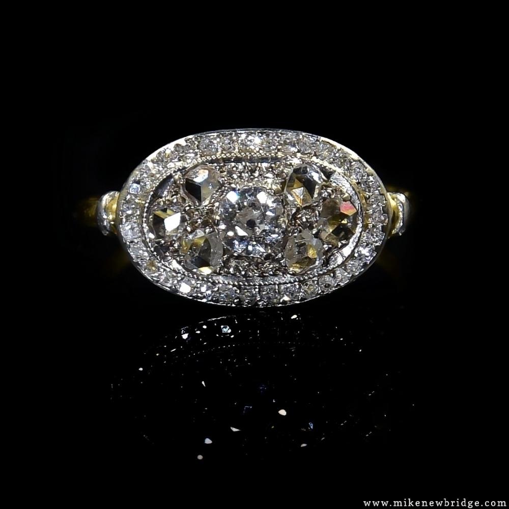 Ring Belle Epoque met diamanten