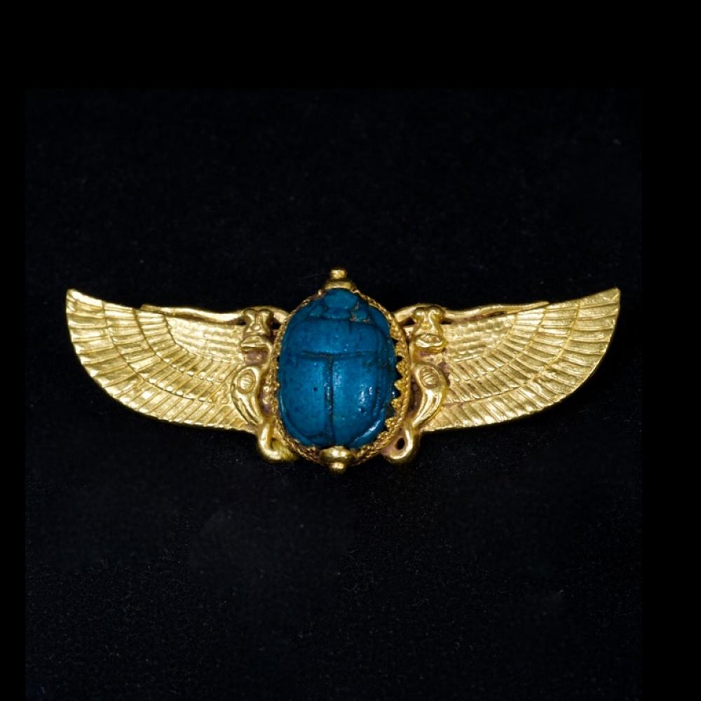 Egyptische revival broche ca 1880