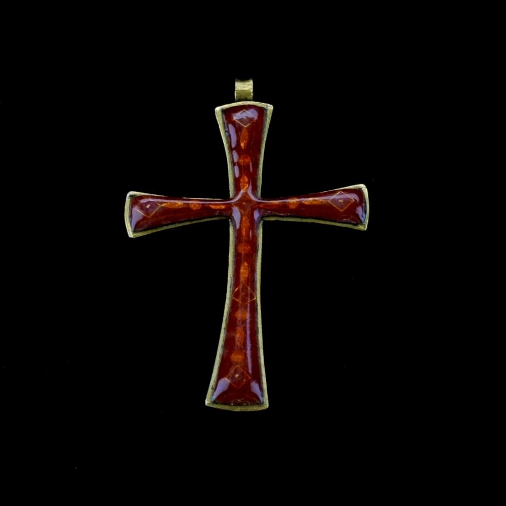 Geëmailleerde kruishanger