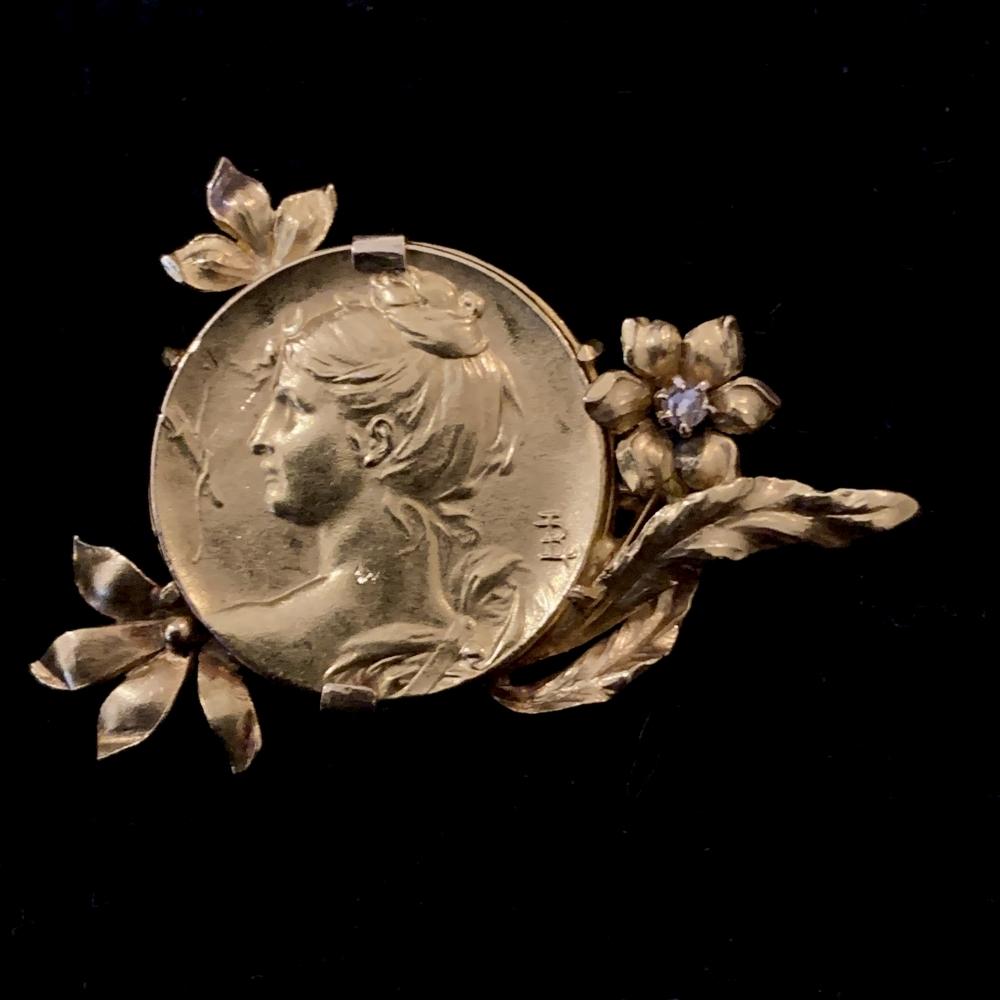 Louis Rault Medal Brooch