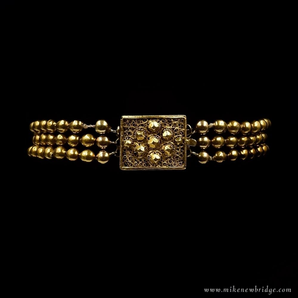 Amsterdams gouden kralen armband