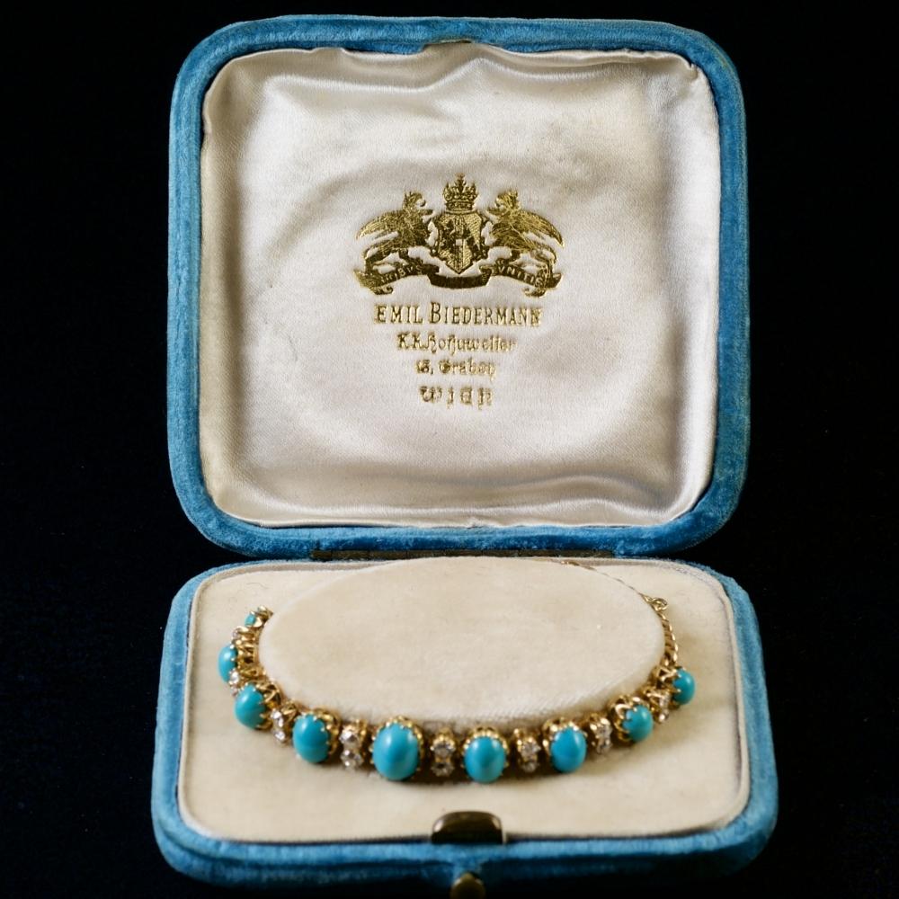 Armband met turkoois en diamant