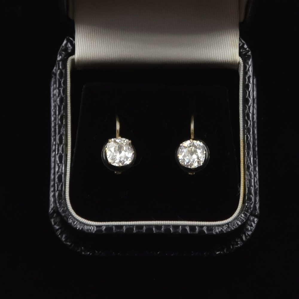 Antieke diamanten oorhangers