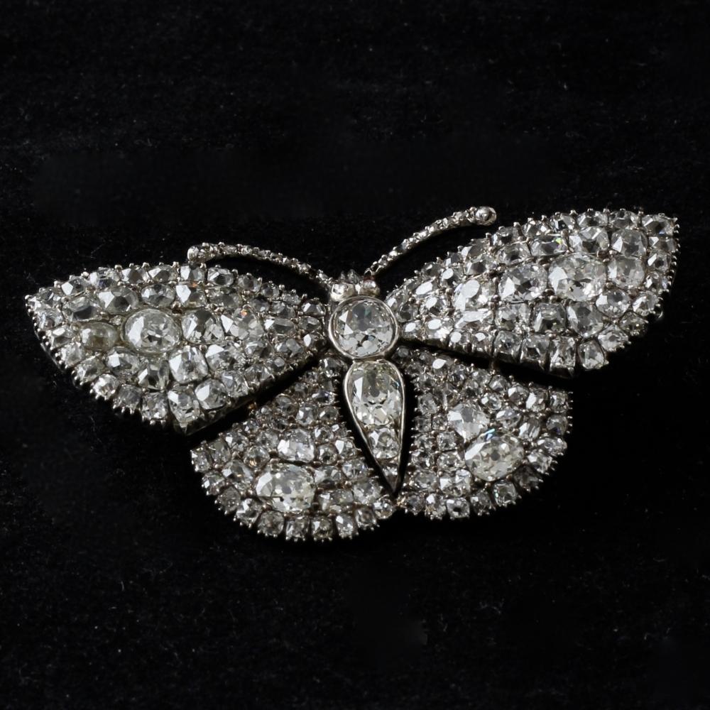 Diamanten vlinderbroche