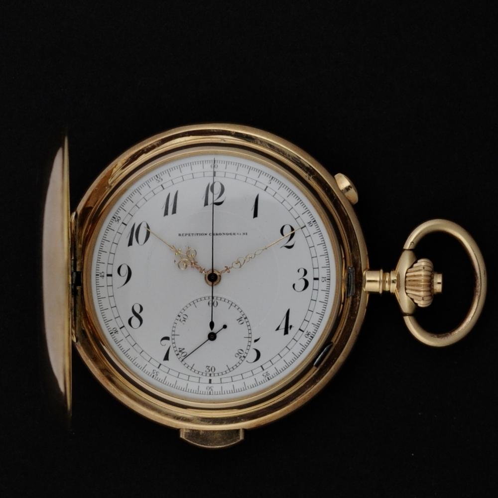 Repetitie horloge rose goud
