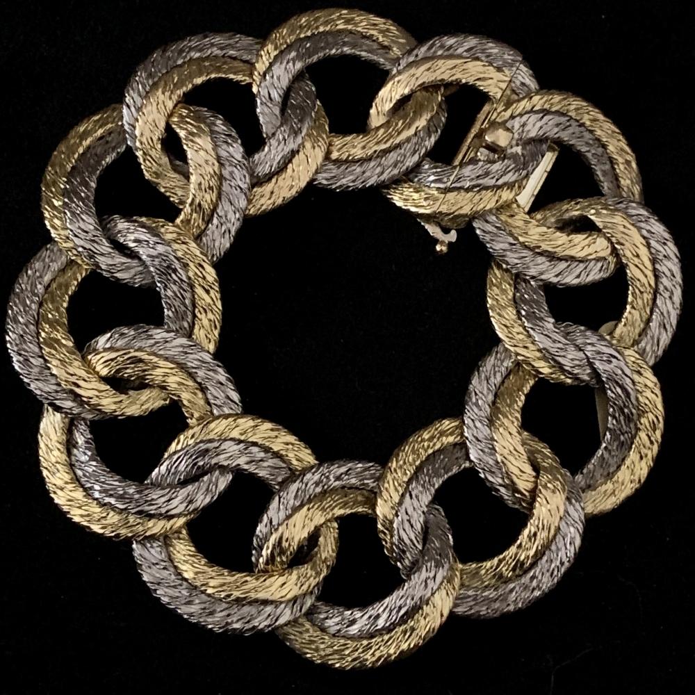 Georges Lenfant tweekleurige gevlochten gd. armband