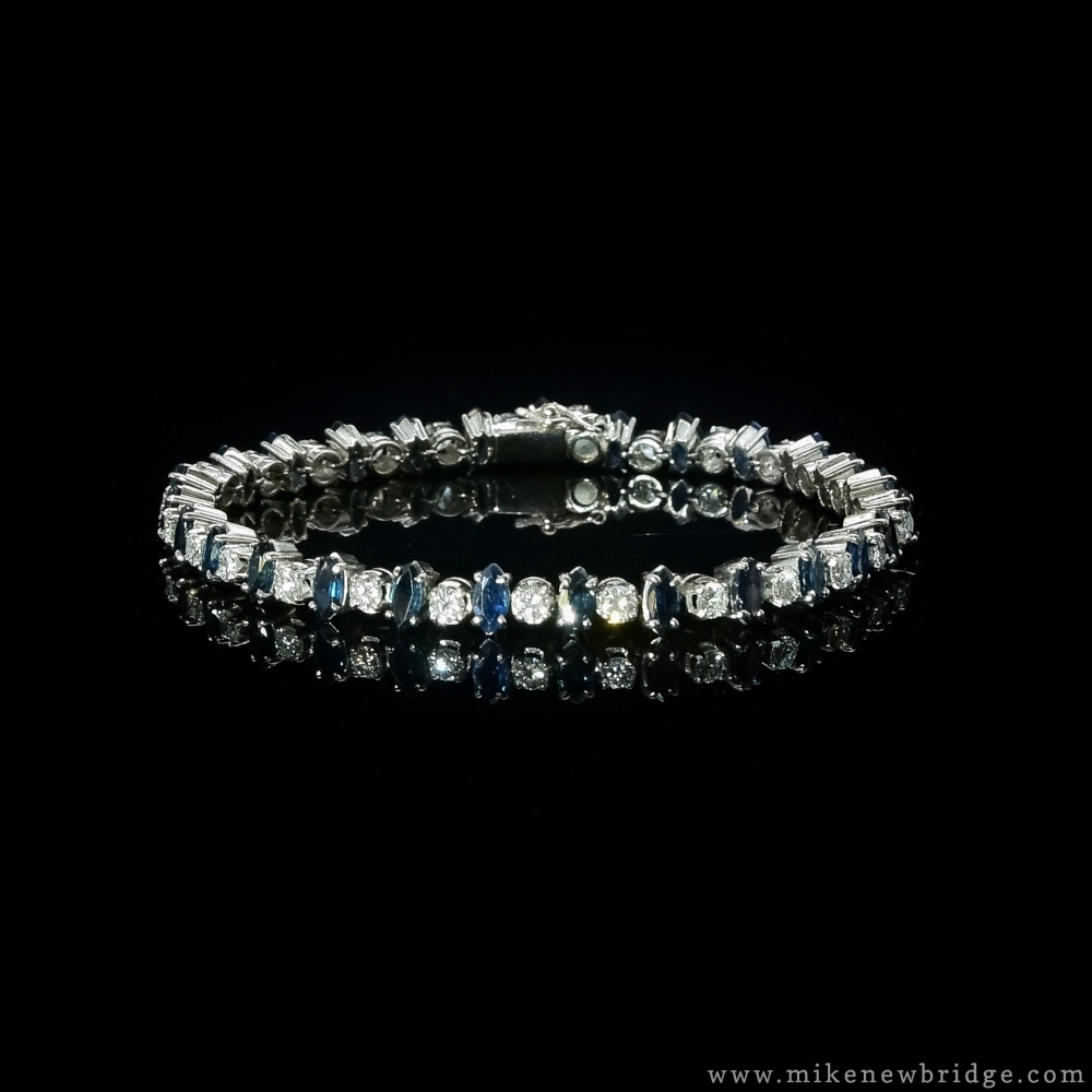 Riviera armband saffier/diamant