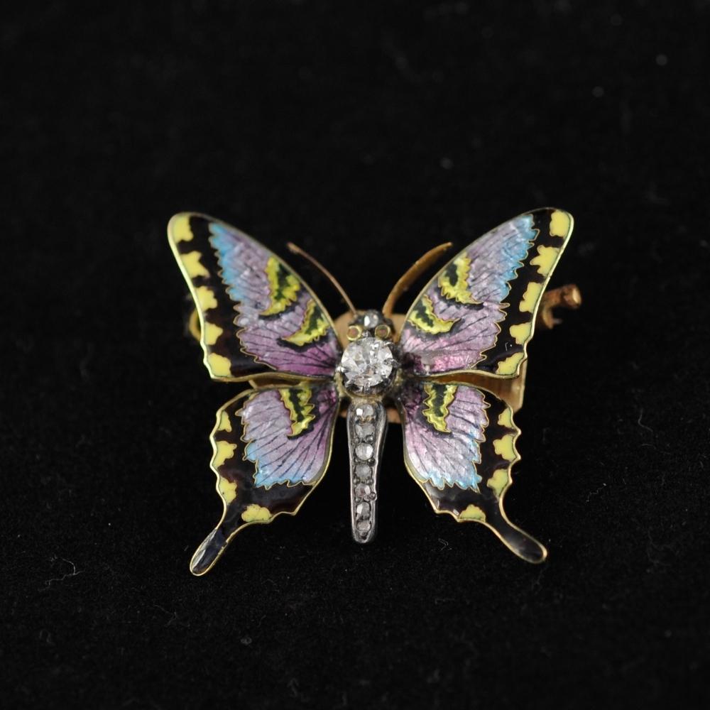 Miniatuur vlinderbroche