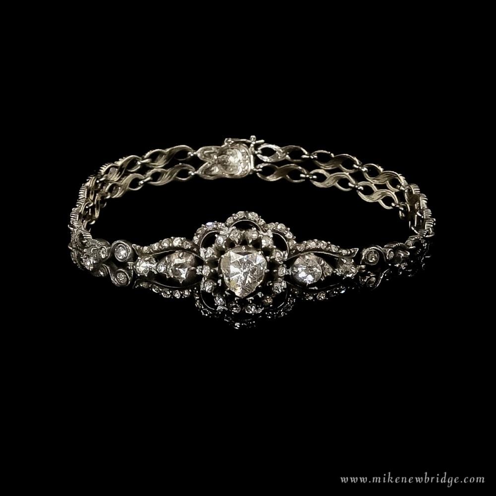 Armband met roosgeslepen diamanten