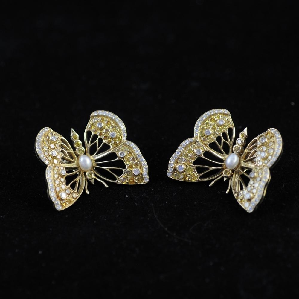 Vlinder oorclips 1986