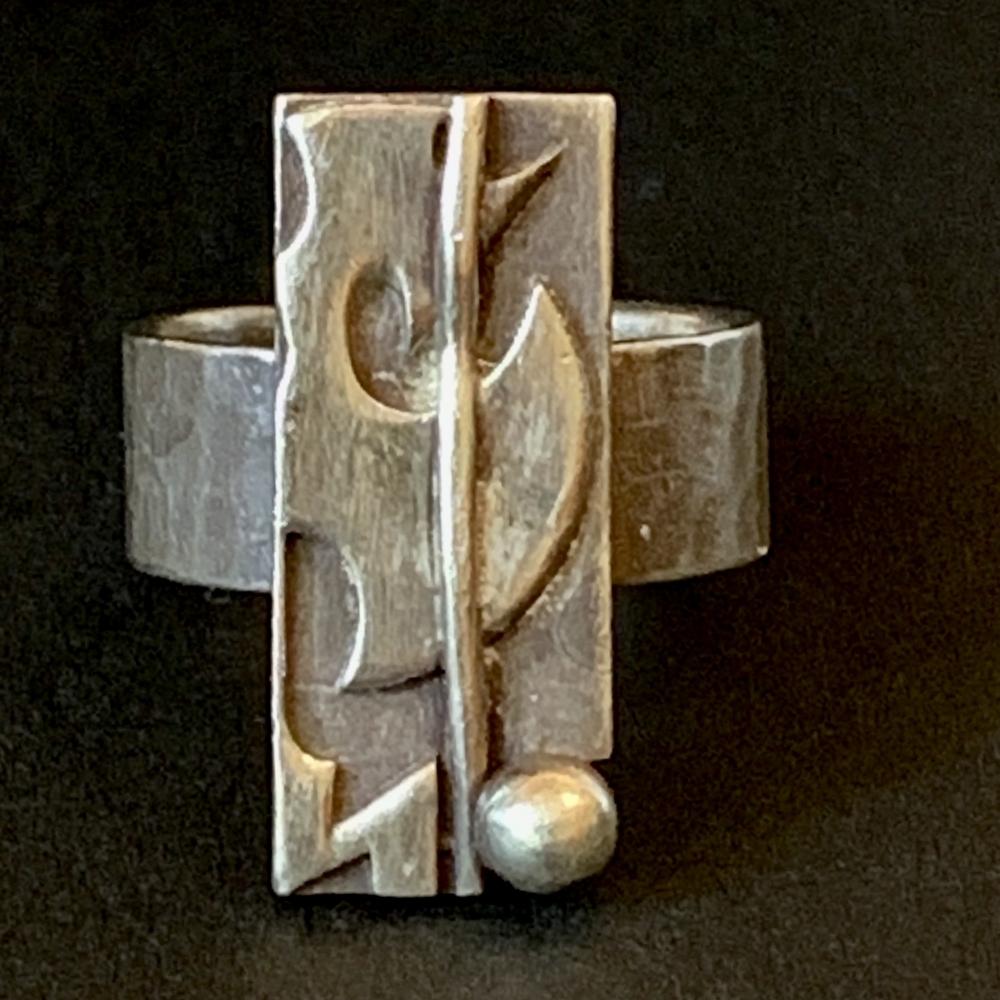 Design ring in zilver