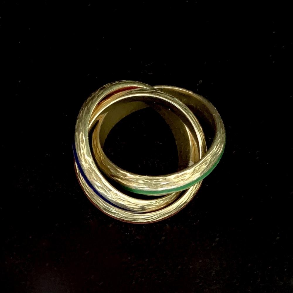 Vintage Hermes ring met drie kleuren