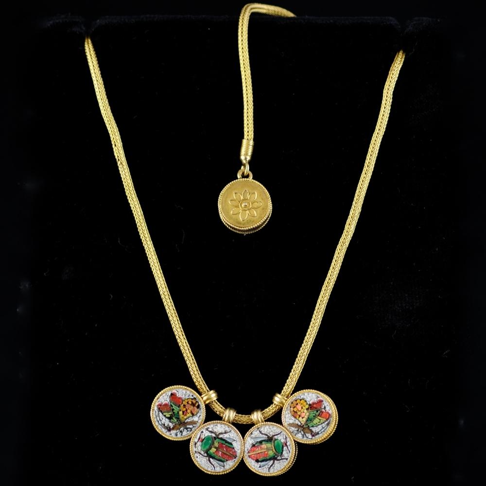 Neo-Etruskisch micromozaiek collier