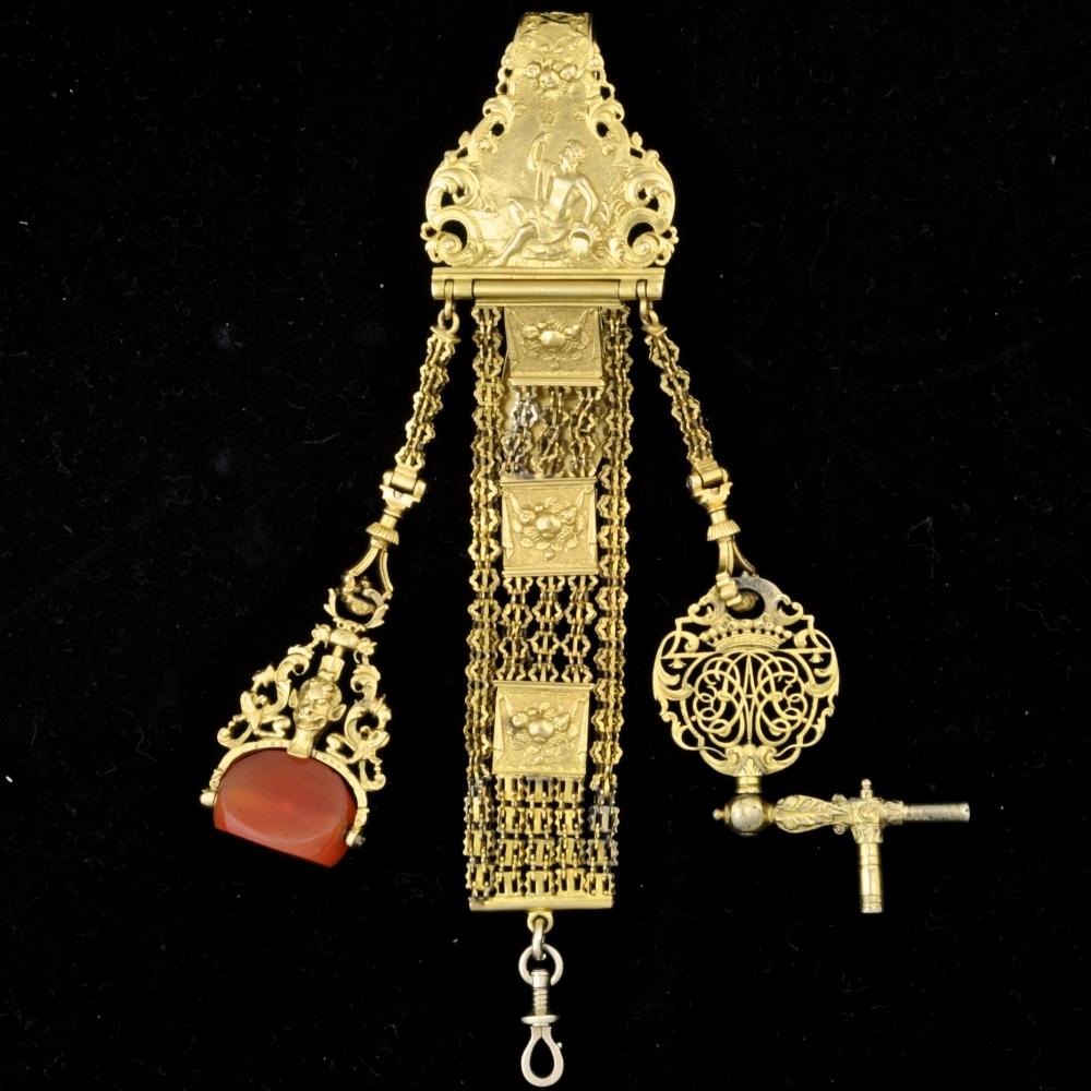 Gouden Chatelaine Louis XIV