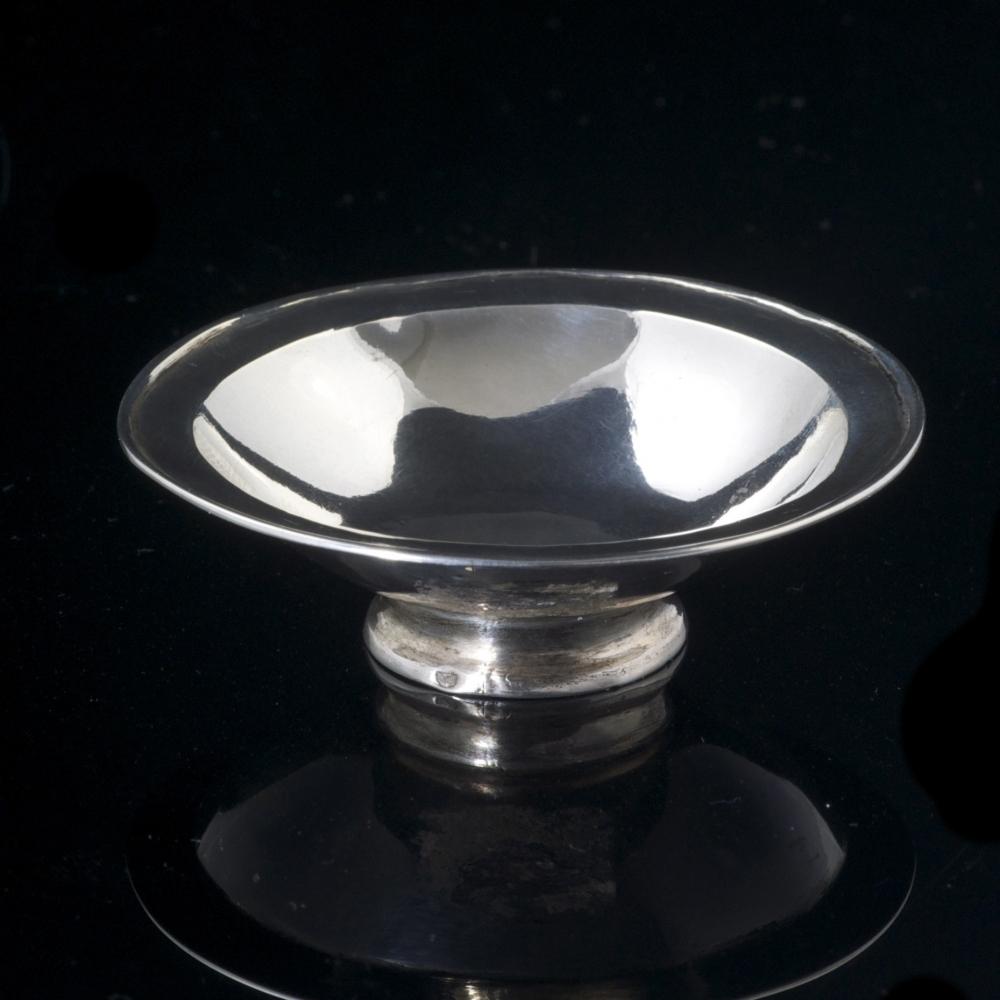 Miniatuur zilveren schaal