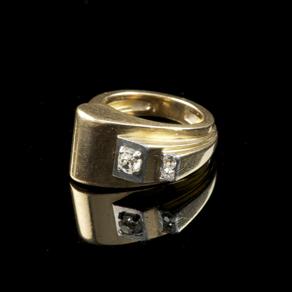 Gouden veertiger jaren ring
