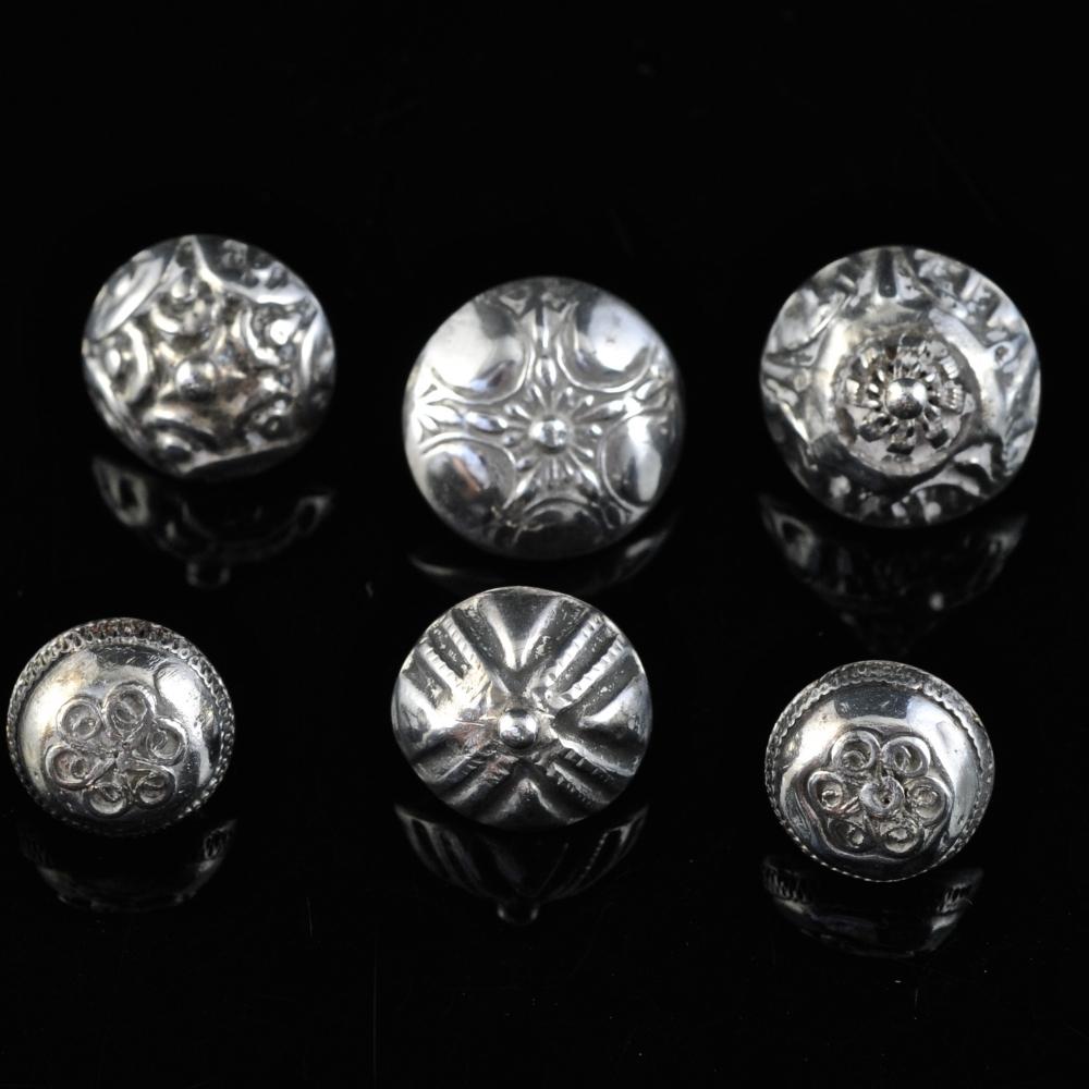 Antieke zilveren knopen