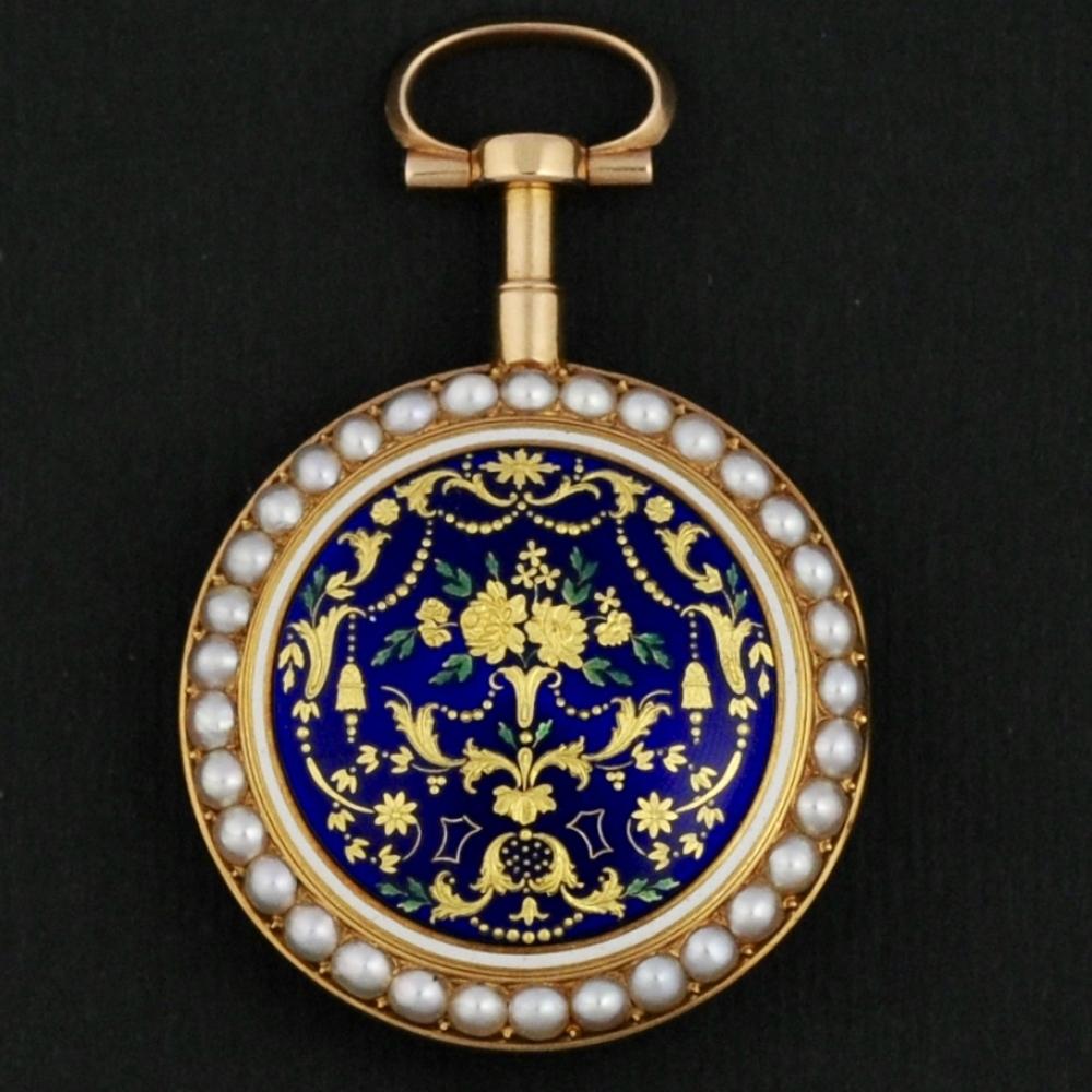 Geëmailleerd zakhorloge Louis XVI