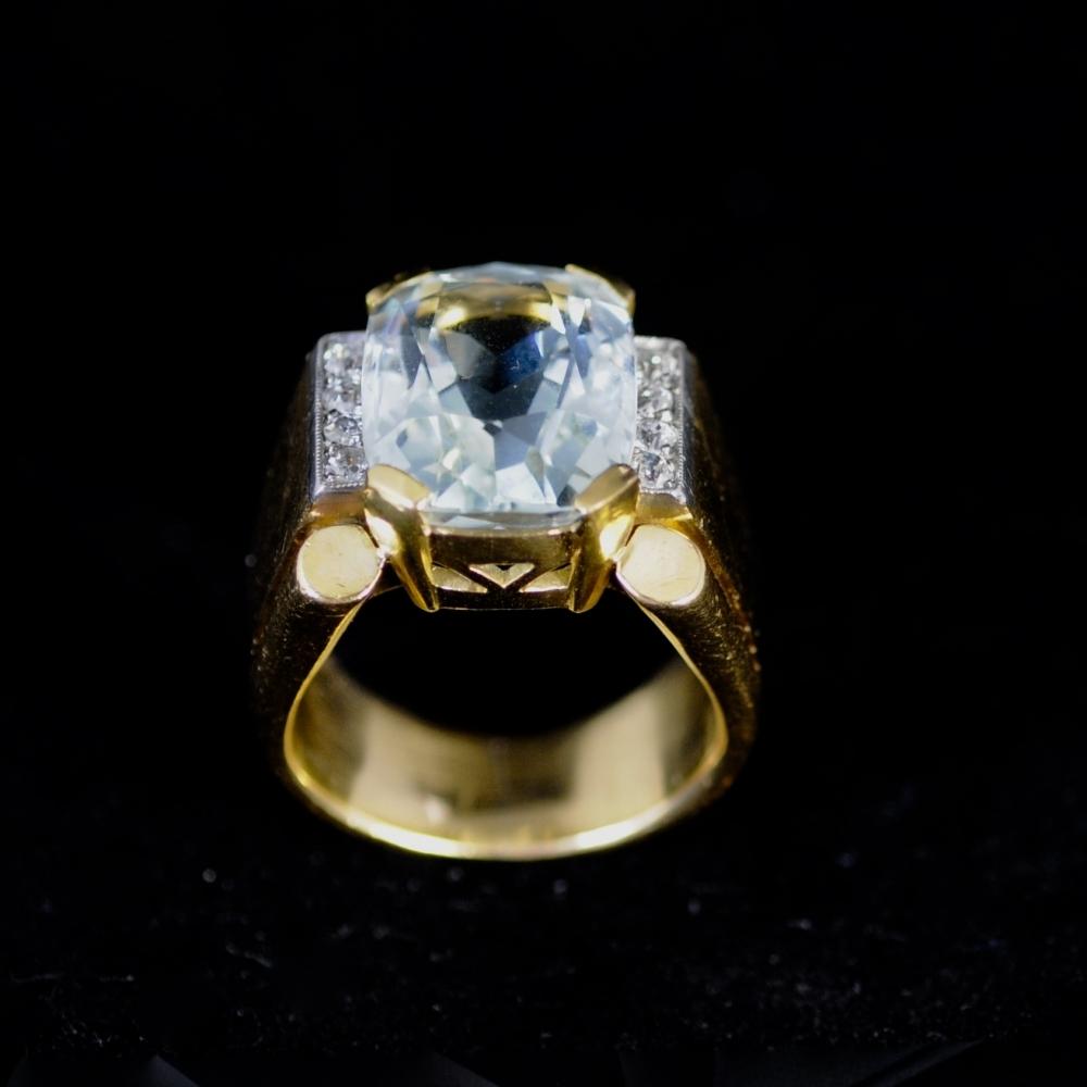 Ring Aquamarijn veertigerjaren