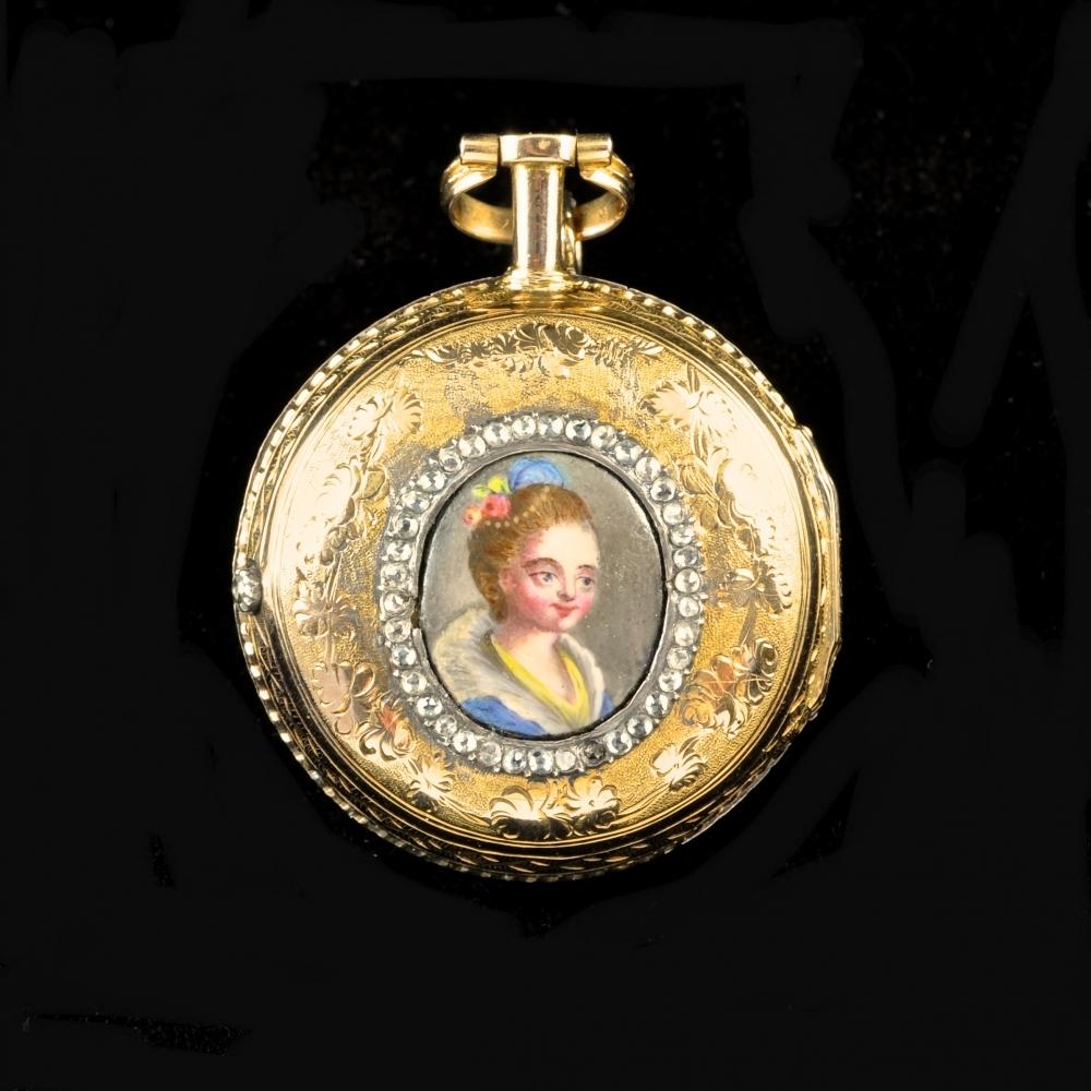 Miniatuur portrethorloge