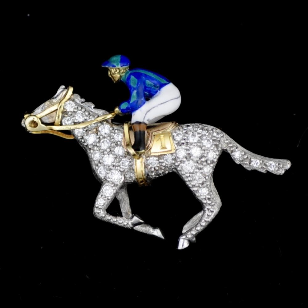 Jockey broche
