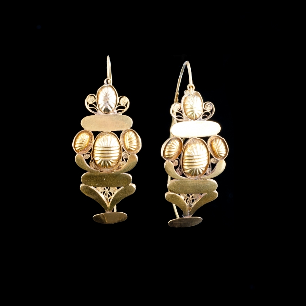 Antique Dutch large earrings