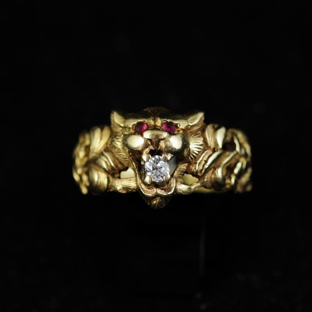 Leeuwenkop ring