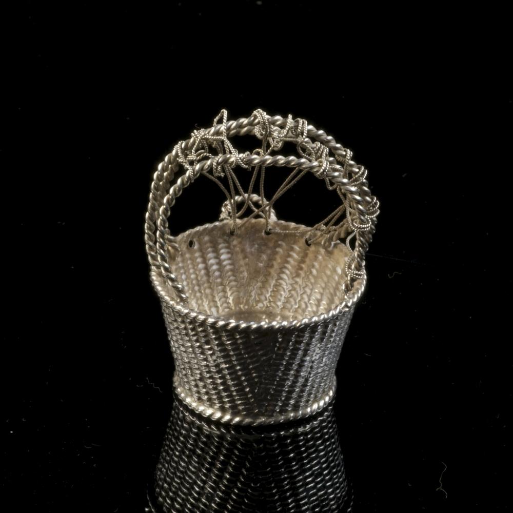 Miniatuur zilveren luiermand