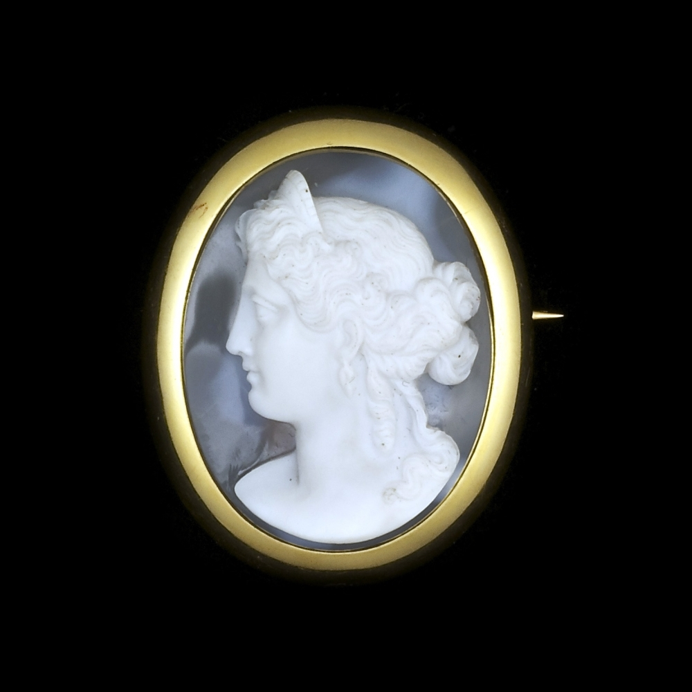 Antique stone cameo