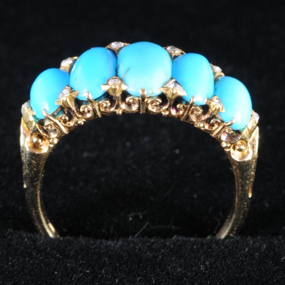 Antieke ring met turkoois