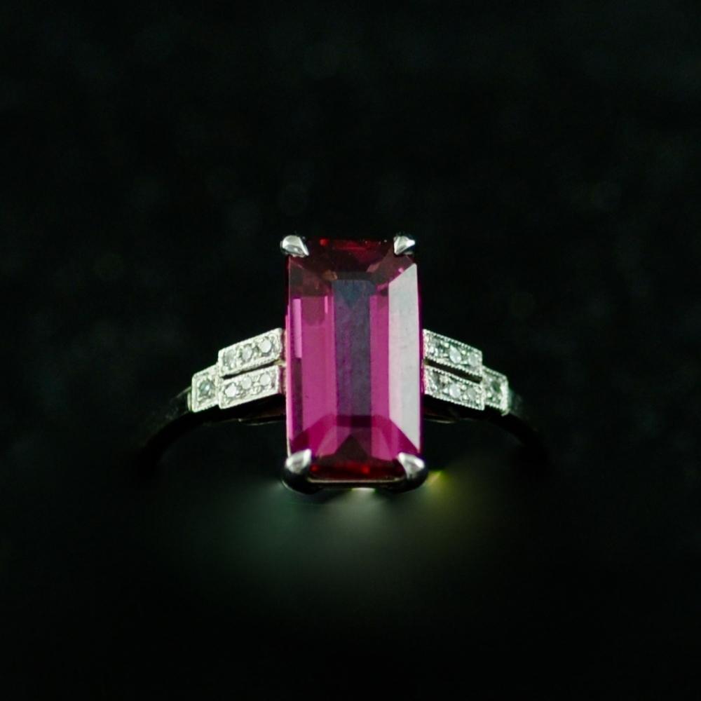 Toermalijn Art Deco Ring