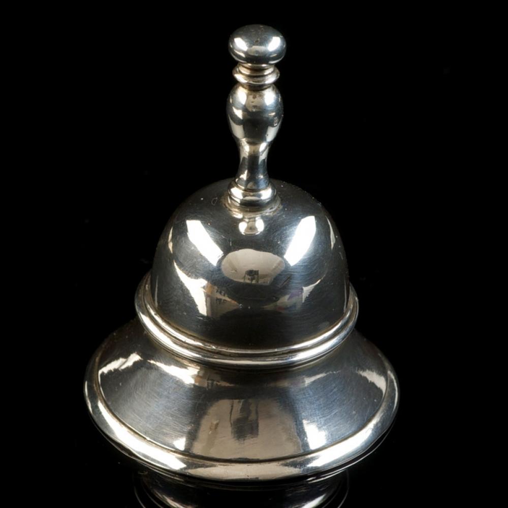 Miniatuur zilveren tafelbel