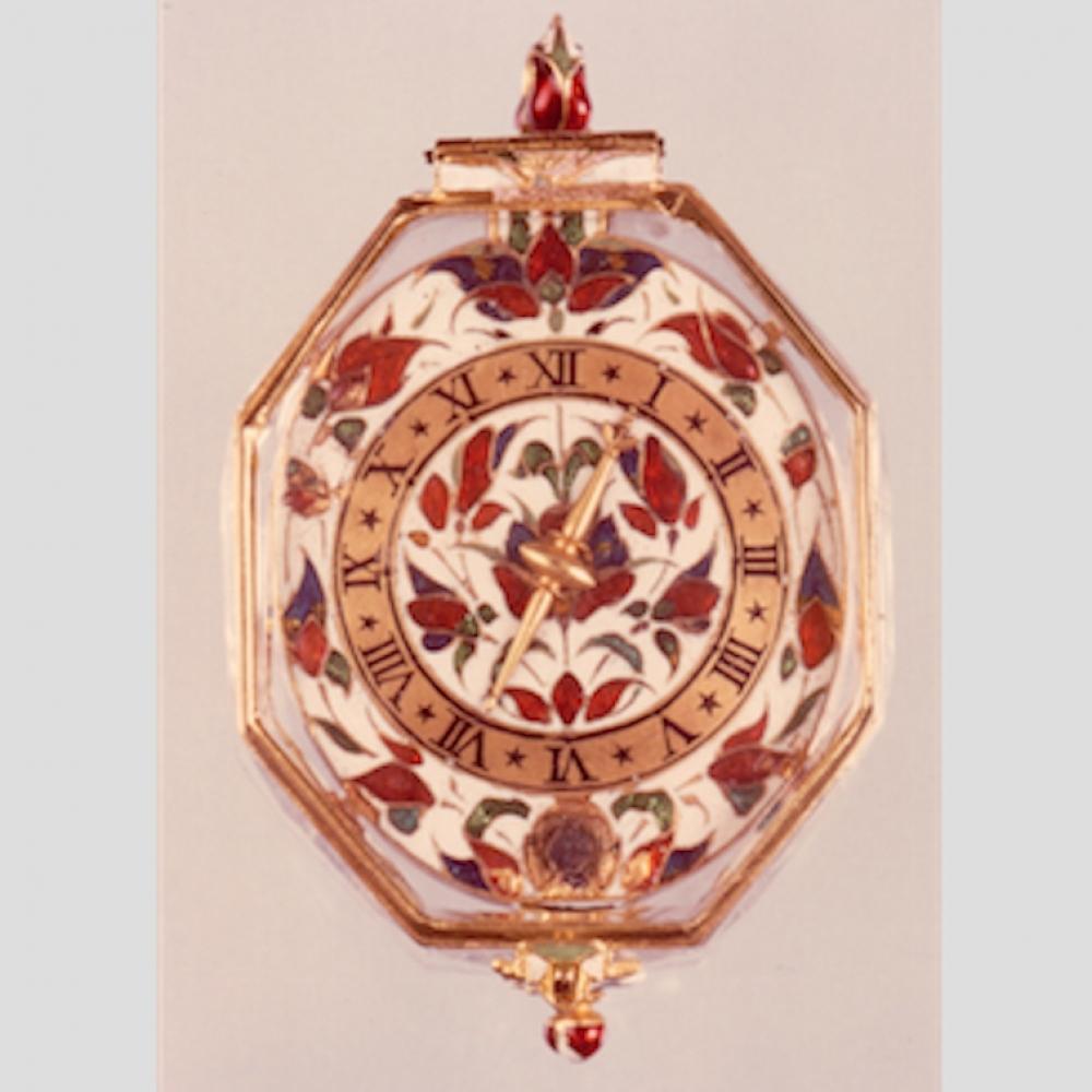 Octagonaal horloge, voorkant