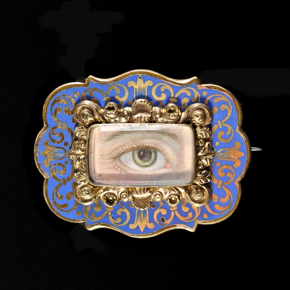 Georgian broche met lovers eye