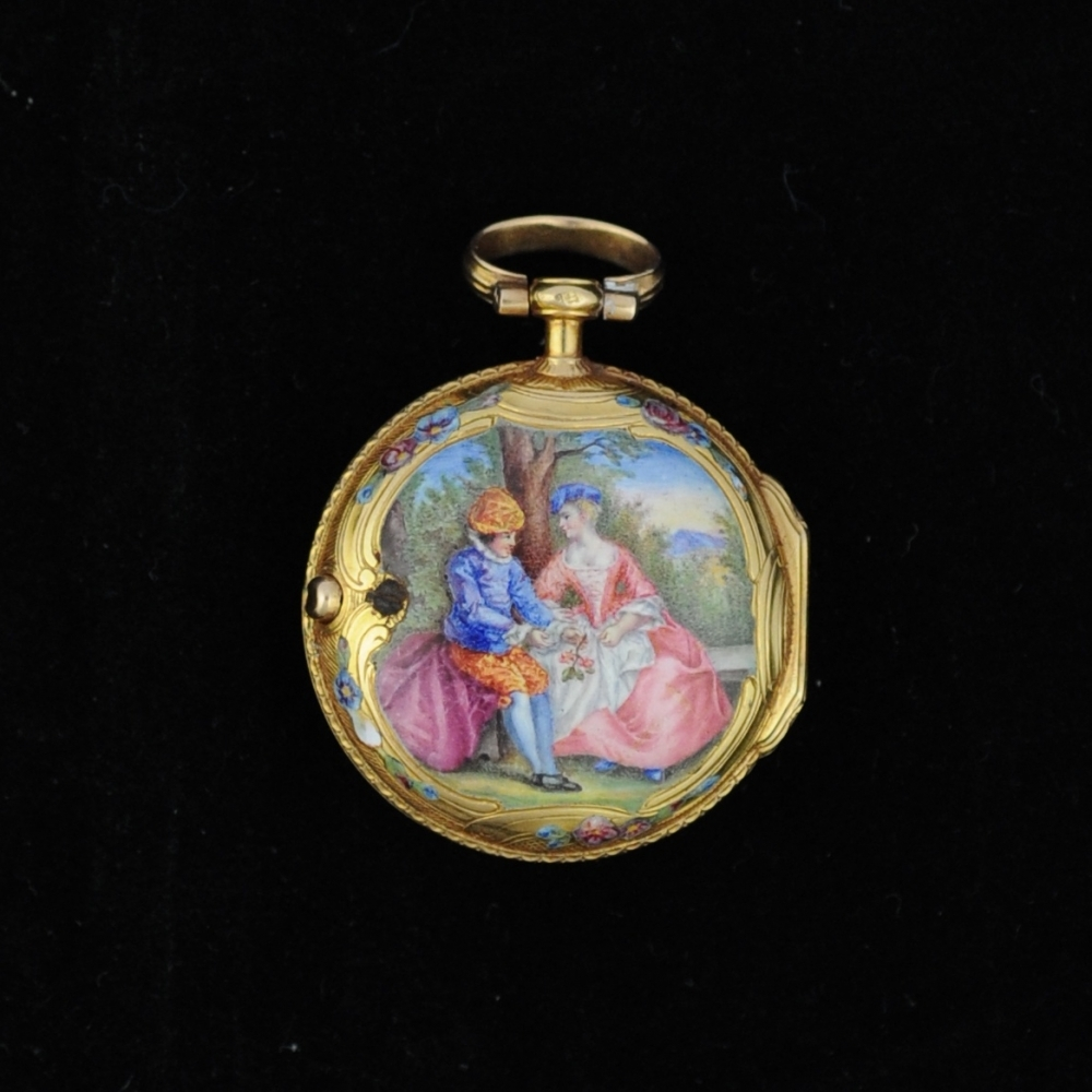 Miniatuur horloge Louis XV