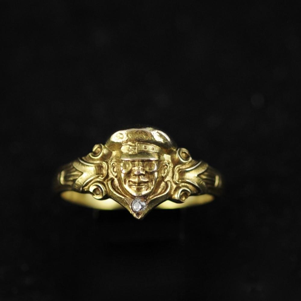 Ring met coureur