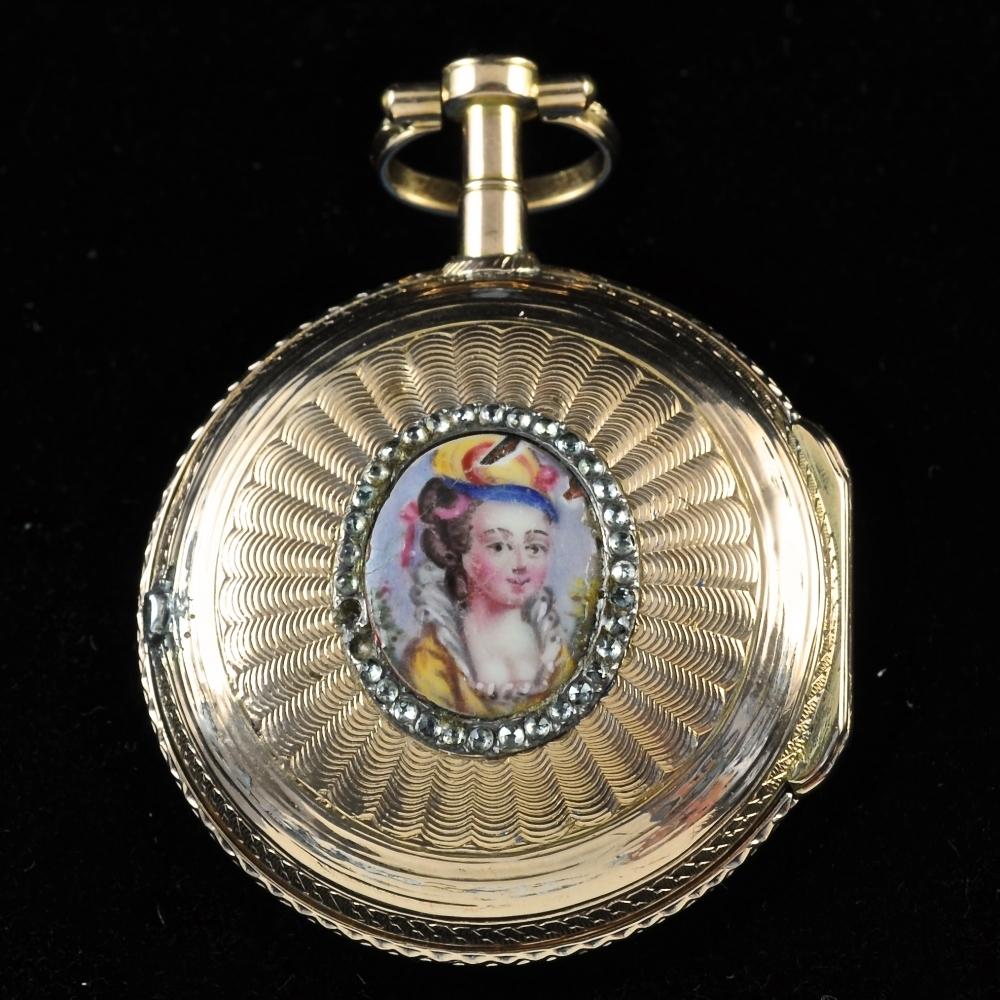 Miniatuur portret horloge