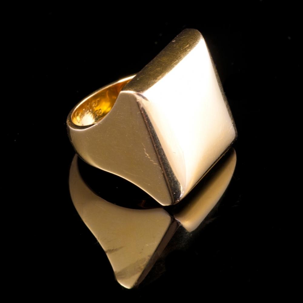 Massief gouden ring