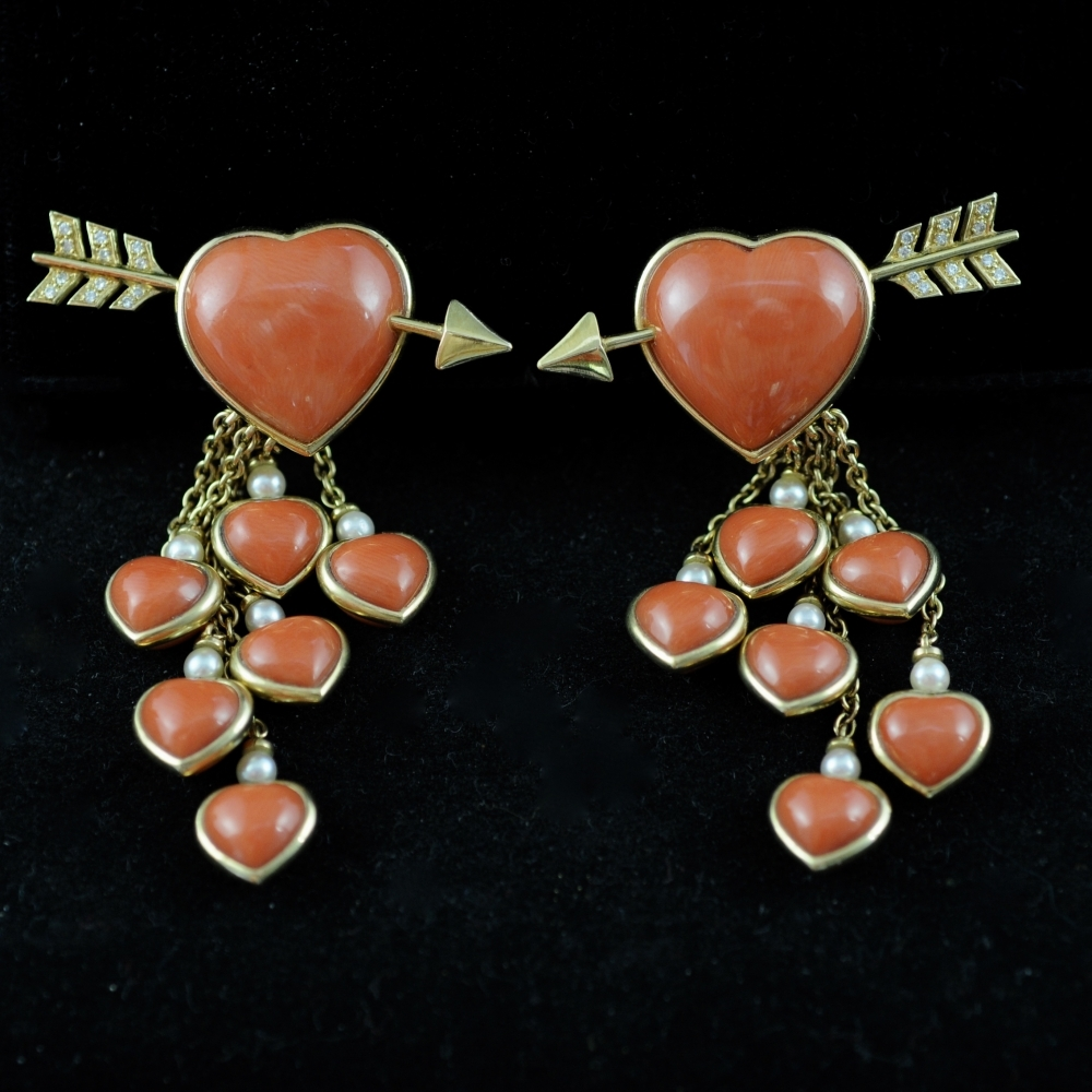 Hart and Arrow Earrings