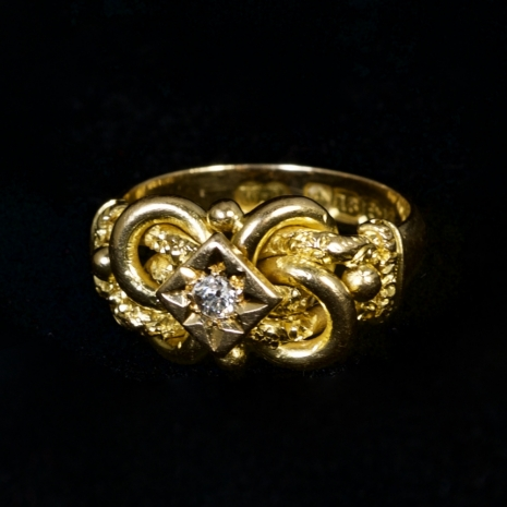 Victorian love knot ring