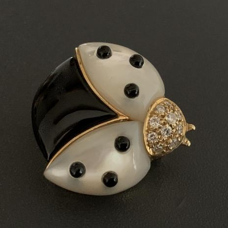 de Grisoono Ladybug brooch