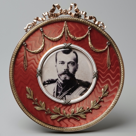 Miniature frame by Fabergé with Emperor Nicholas II