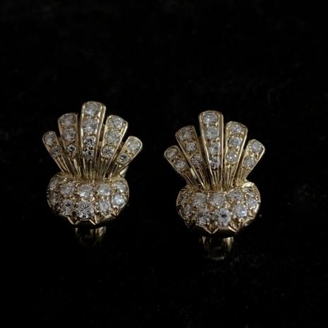 Diamond set earclips