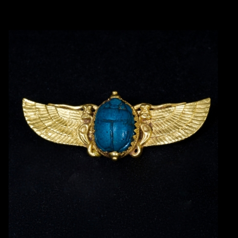 Egyptian revival scarab brooch ca 1880