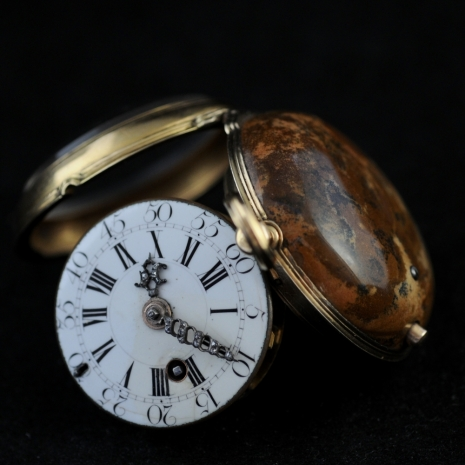 Hardstone and Gold Pocket Watch