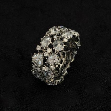18ct Ring diamond set