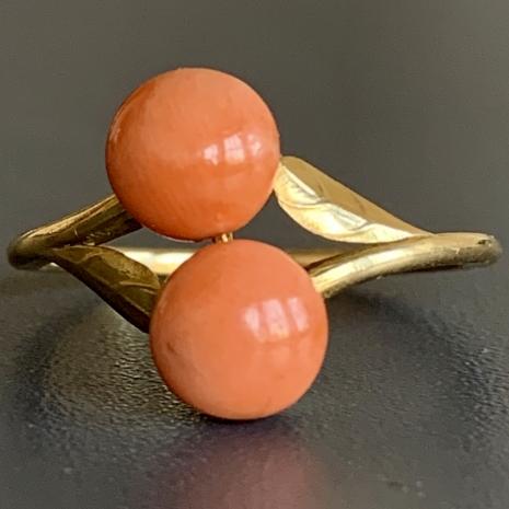Coral ring, angel skin